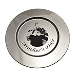 Laser Personalized Charger Plate with photo
