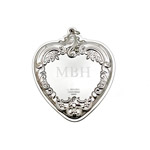 Engraved Grande Baroque heart ornament