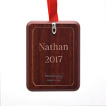 Picture Frame Ornament Personalized Christmas Ornament, Lazer Engraved