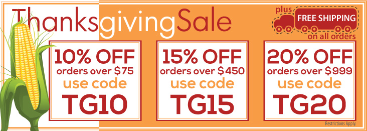 Thanksgiving Sale coupon codes for discounts up to 20% off!
