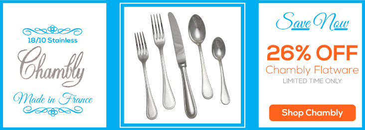 Chamlby Stainless Flatware on sale right now, 26% off!