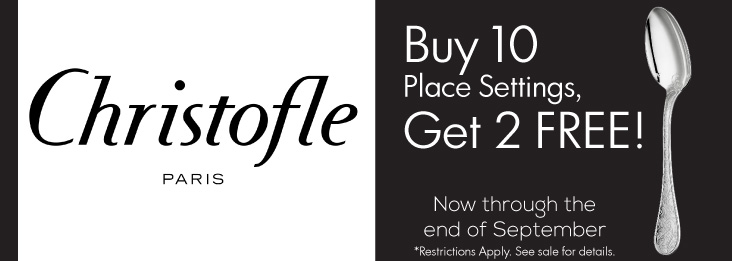 Christofle Buy 10 Place Settings, get 2 Free!