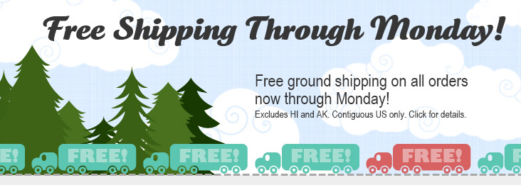 Free shipping is on!