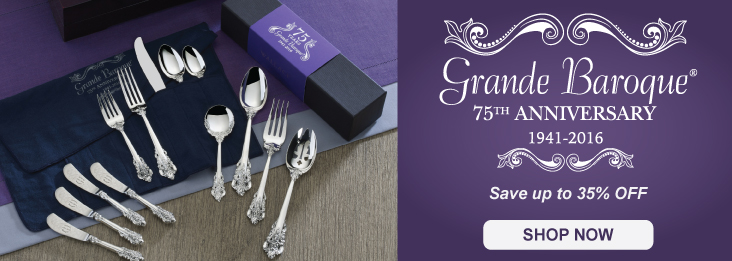 Wallace Grande Baroque Sterling Silverware Sale - 75th Anniversary Sale - Up to 35% off
