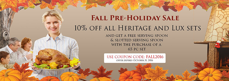 Liberty Tabletop Fall 2016 Pre-holiday sale!
