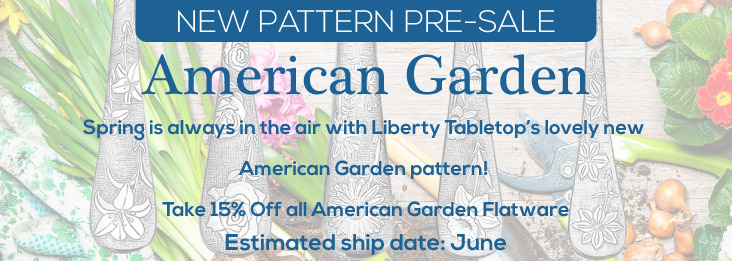 Pre-order Liberty Tabletop's American Garden pattern now!