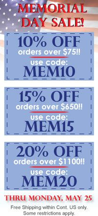 Memorial Day Sale On Now!