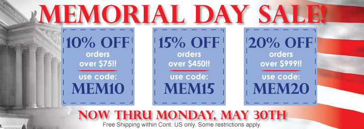 Memorial Day Sale! Discounted Silverware, Personalized Gifts, Free shipping