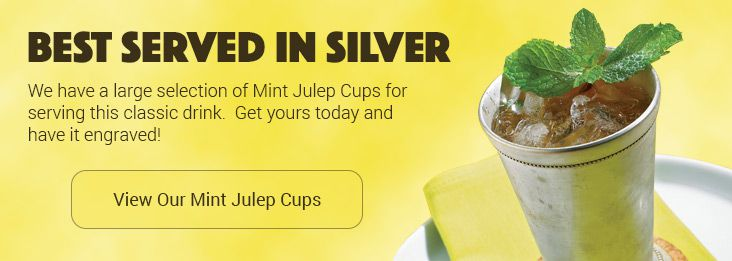 Personalized Mint Julep Cups at Silversuperstore.com, get yours before it's too late!