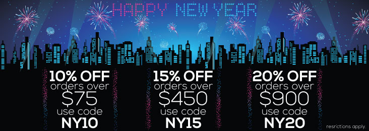 New Year Savings coupon codes for discounts up to 20% off!