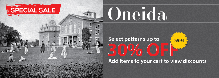 Special pricing on select Oneida flatware patterns