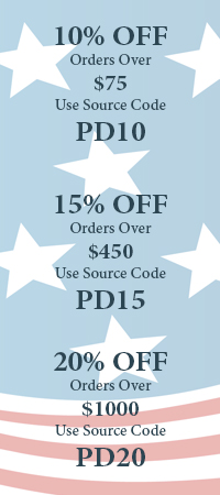 Presidents Day Sale. 10, 15, and 20 percent off site wide!