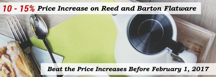 Reed and Barton Price increase starting February 1, 2017