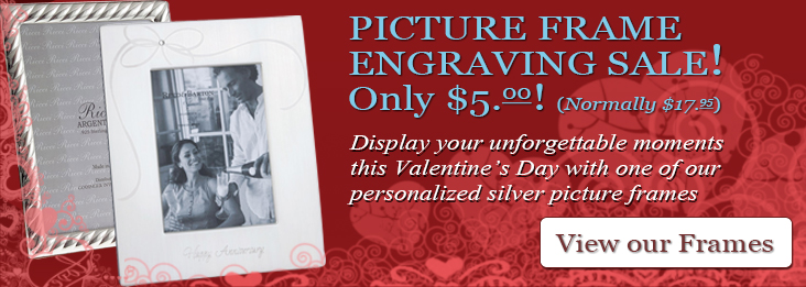 Sterling Silver and Silverplate Picture Frames, engraving for only $5!