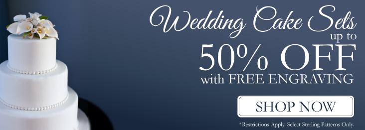 Sterling Wedding cake knife and server set on sale