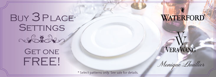 Buy 3 Place Settings get 1 Free on select flatware patterns.