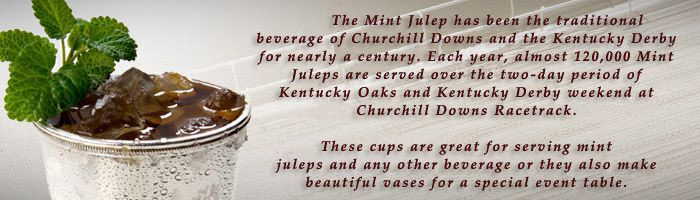Silver Mint Julep Cups