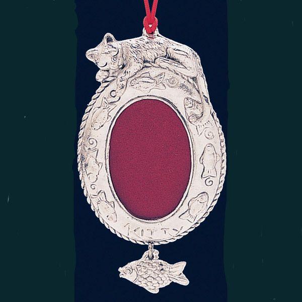 Arthur Court Pet Cat Christmas Ornament Photo Frame