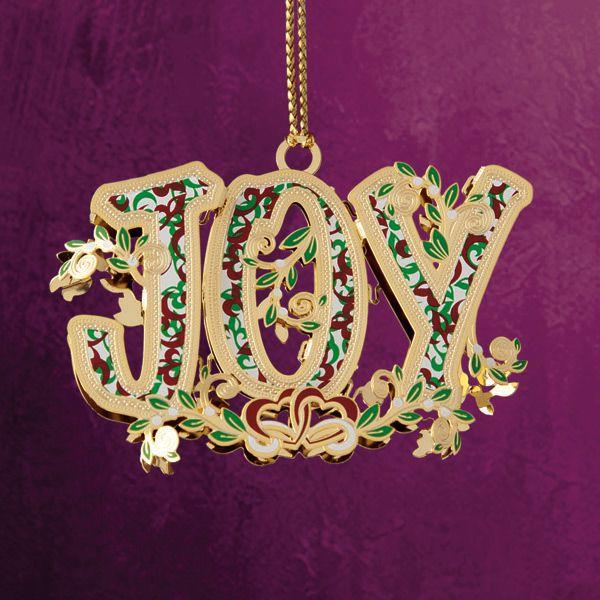 2014 chemart joy christmas ornament brass christmas ornament