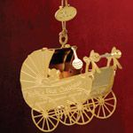 ChemArt 2011 Babys First Christmas Brass Christmas Ornament