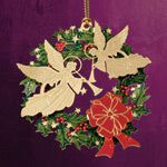 ChemArt Angel Wreath Brass Christmas Ornament
