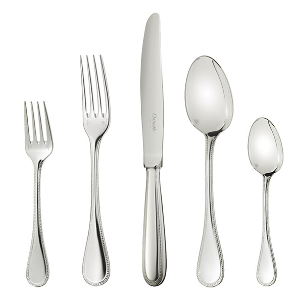 Christofle Perles 5pc Place Setting