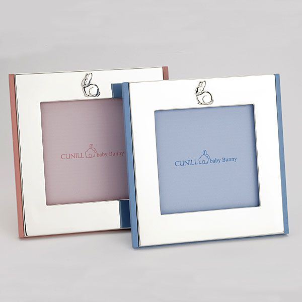 Cunill Bunny Sterling Silver Picture Frames With Pink And Blue Wood