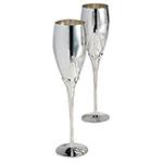 Elegance Silverplate Toasting Flutes