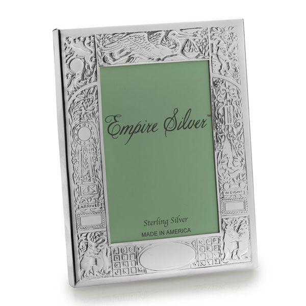 empire silver sterling birth record frame - Mikasa Picture Frames