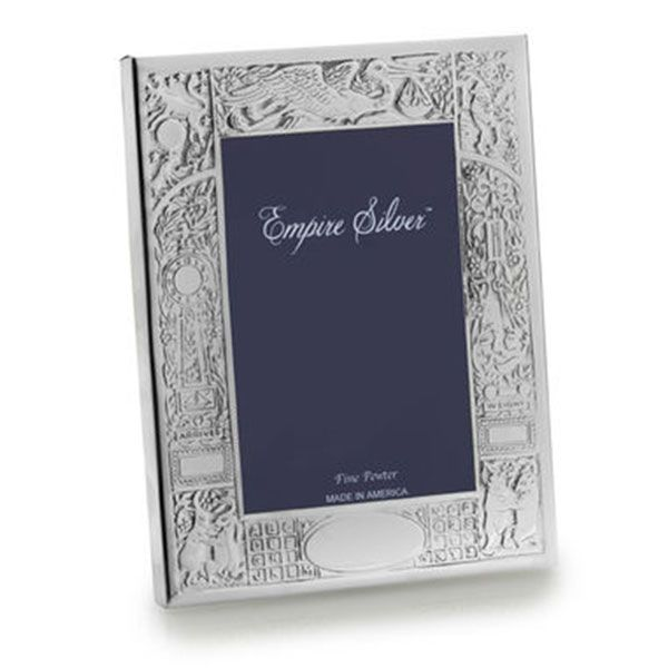 Empire Silver Pewter Birth Record Picture Frames