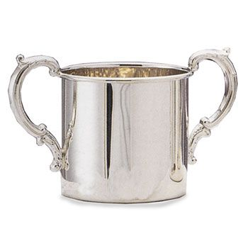 Empire Double Handled Sterling Silver Baby Cup