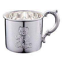 Empire Teddy Bear Sterling Silver Baby Cup