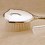 Empire Sterling Silver Girls Comb Brush Set Classic with Shield