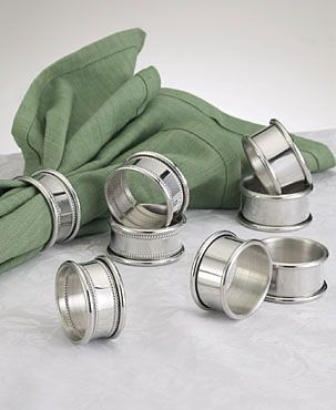 Empire Pewter Napkin Ring, Plain