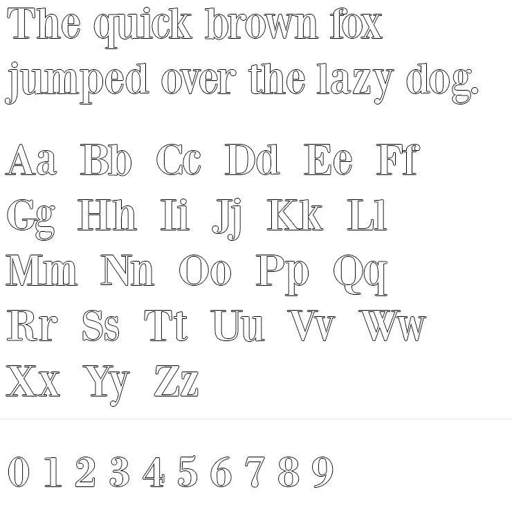 BodoniXT Silver Engraving Font