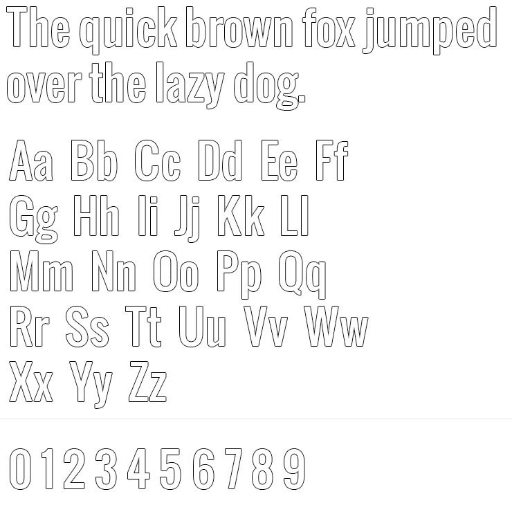 Oswald Silver Engraving Font