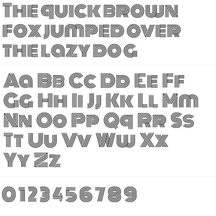 Monoton Silver Engraving Font