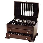 Federal Two Drawer Flatware, Silver Storage Chest