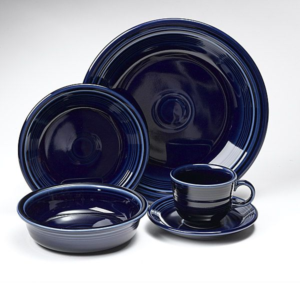 Fiesta Cobalt Blue Dinnerware 5 Piece Place Setting Larger Image  sc 1 st  Silver Superstore & Fiesta Cobalt Blue Dinnerware by Homer Laughlin | Silver Superstore