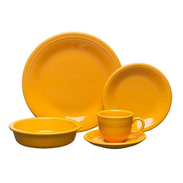 Fiesta Marigold Dinnerware by Homer Laughlin   Silver Superstore