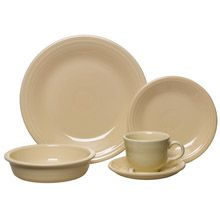 Fiesta Ivory Dinnerware 5 Piece Place Setting