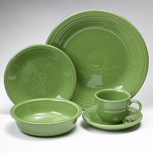 Fiesta Shamrock Dinnerware 5 Piece Place Setting
