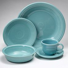 Fiesta Turquoise Dinnerware 5 Piece Place Setting