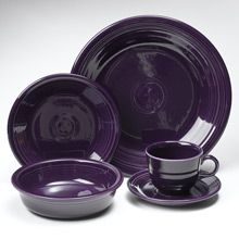 Fiesta Plum Dinnerware 5 Piece Place Setting