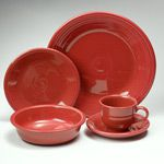 Fiesta Scarlet Dinnerware 5pc Place Setting