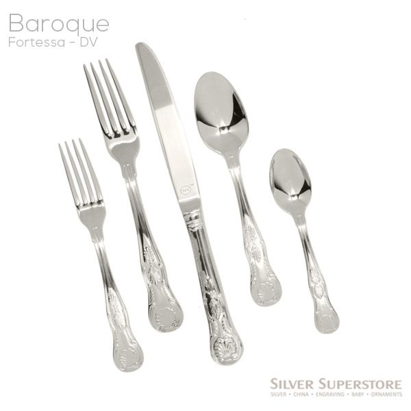 Fortessa D Amp V Baroque Stainless Flatware For Less At Silver Superstore