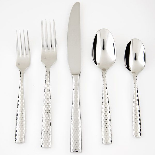 Fortessa Lucca Faceted Stainless Flatware For Less At