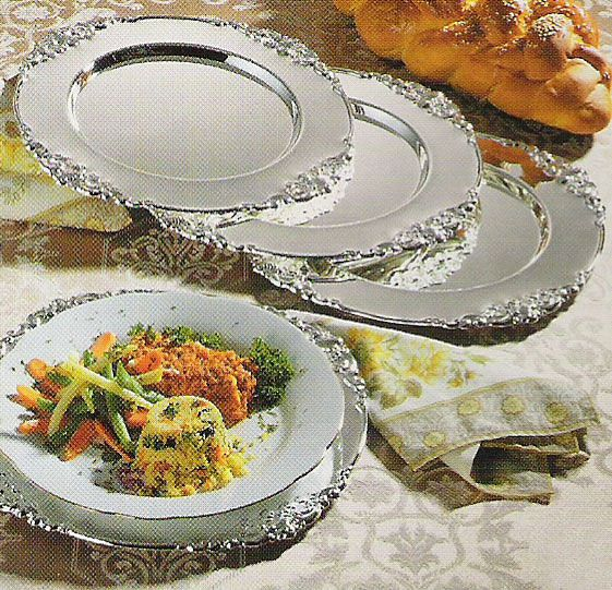 charger plates baroque design silver hobby lobby michaels
