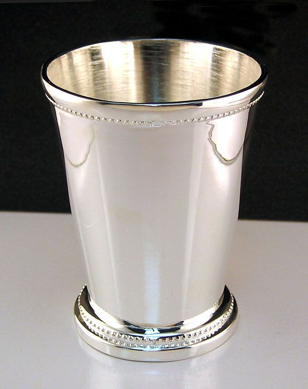 Silver Mint Julep Cup Beaded By Godinger Silverplated