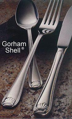 Gorham Shell Stainless Flatware By Gorham